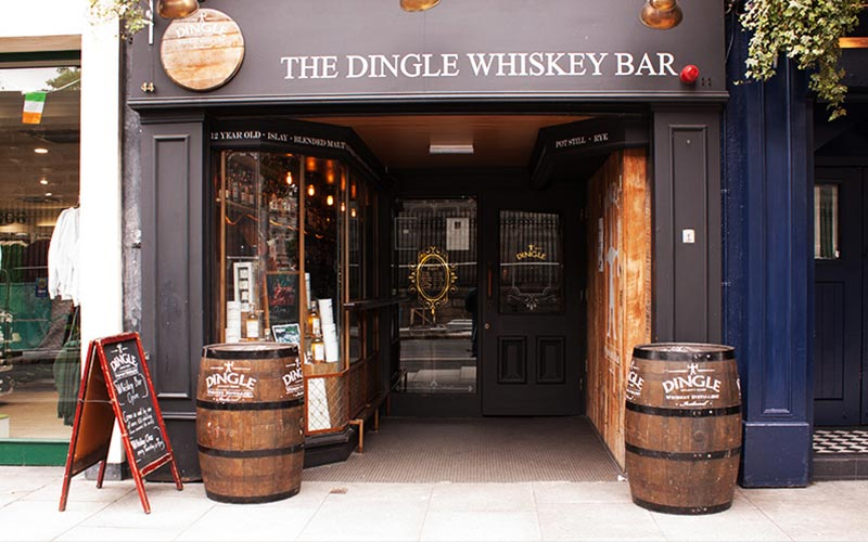 The exterior of The Dingle Whiskey Bar