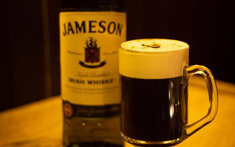 A glass of Jameson