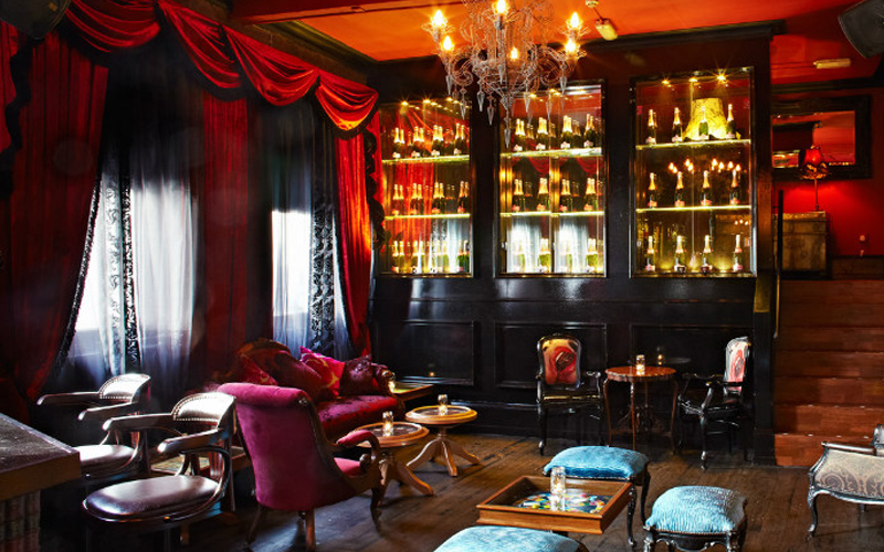 A view of a luxury bar