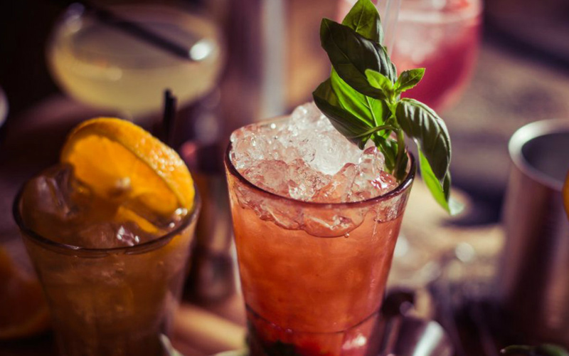 A view of several cocktails