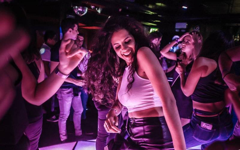 A woman dancing on a dance floor