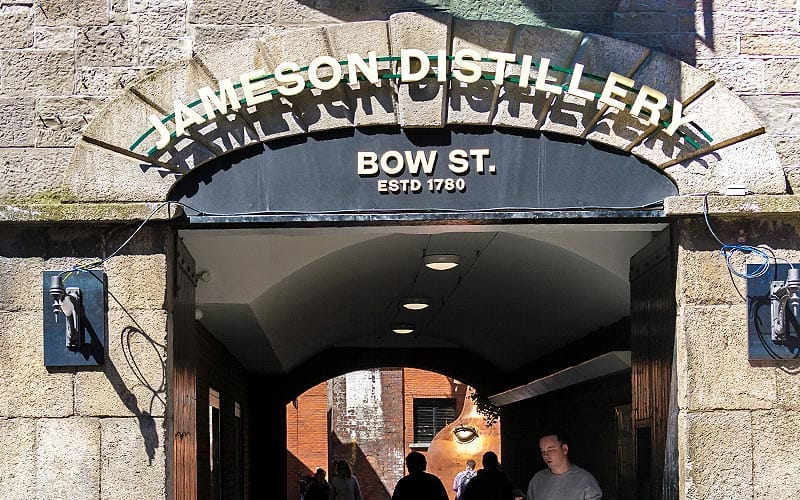 The exterior of Jameson Distillery