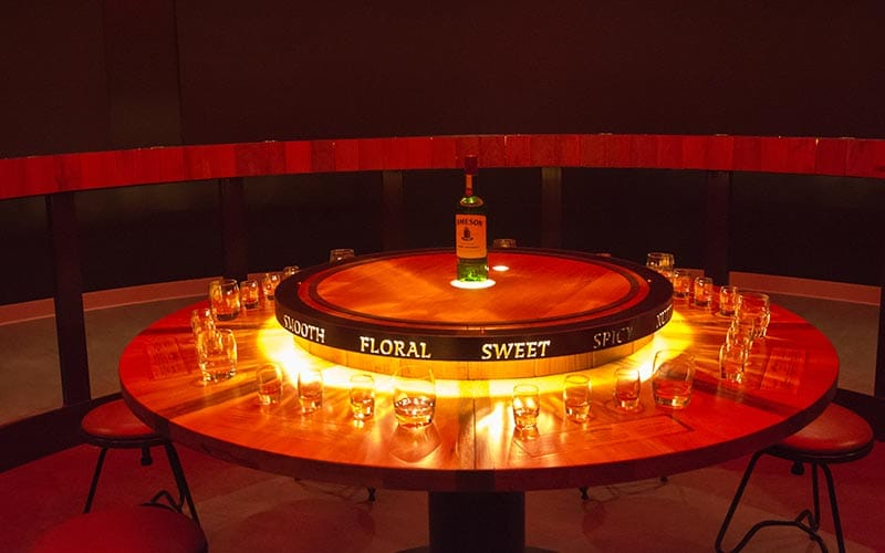 An interactive exhibit in Jameson Distillery