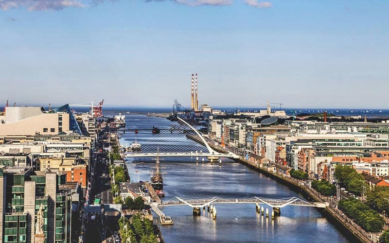 A picturesque view of the River Liffey