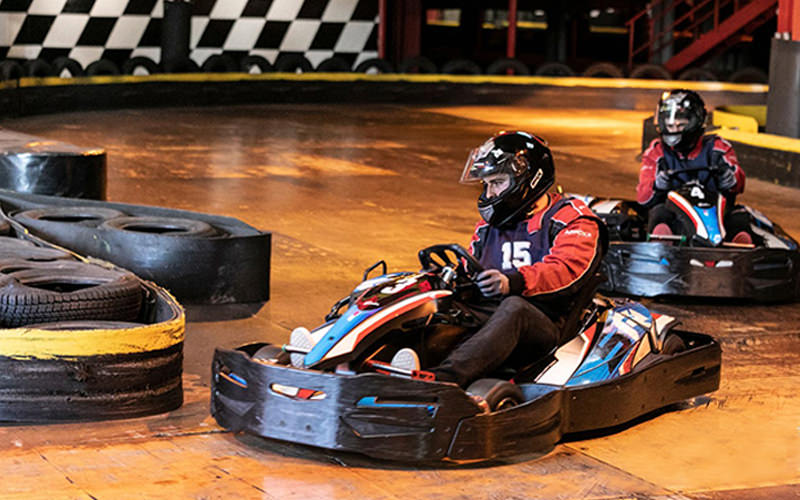 A track in an indoor karting venue