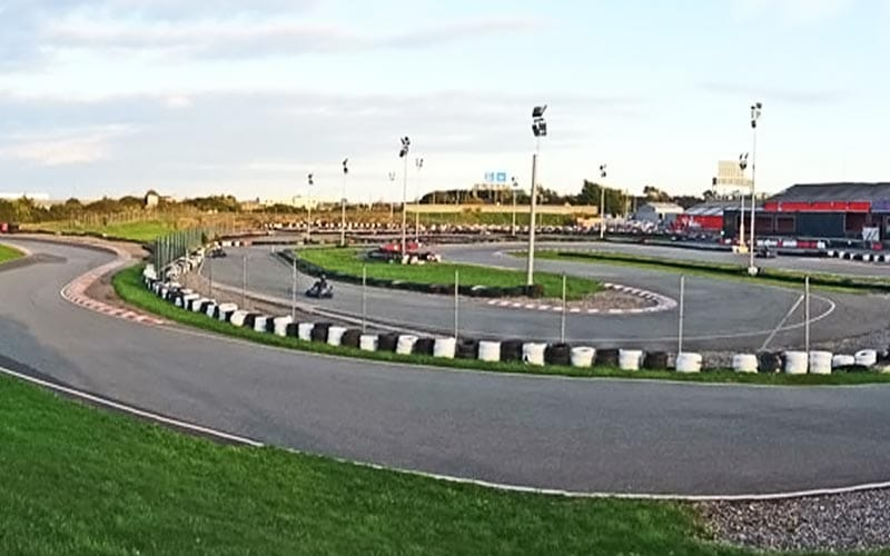 An outdoor go karting track in Dublin