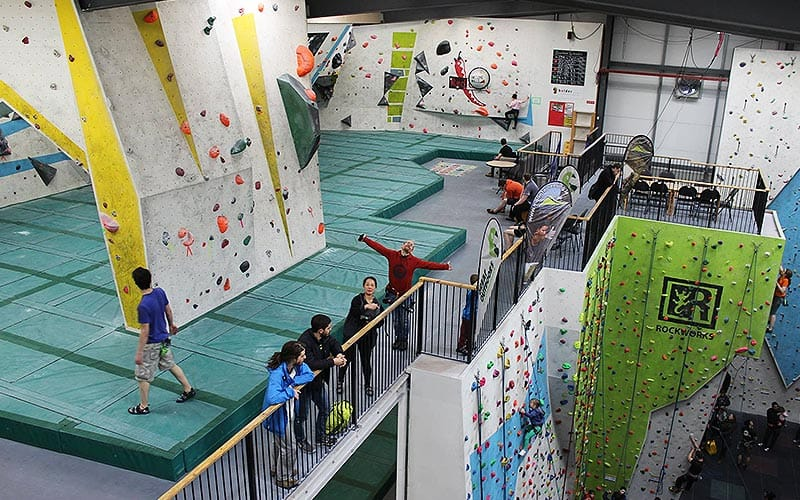 A huge climbing centre with lots of walls offering varying difficulties