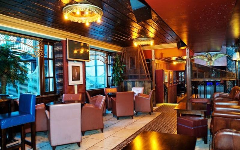 The interiors of the Break for the Border restaurant in Dublin