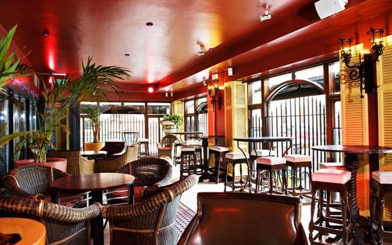 The relaxed seating area in Break for the Border restaurant in Dublin
