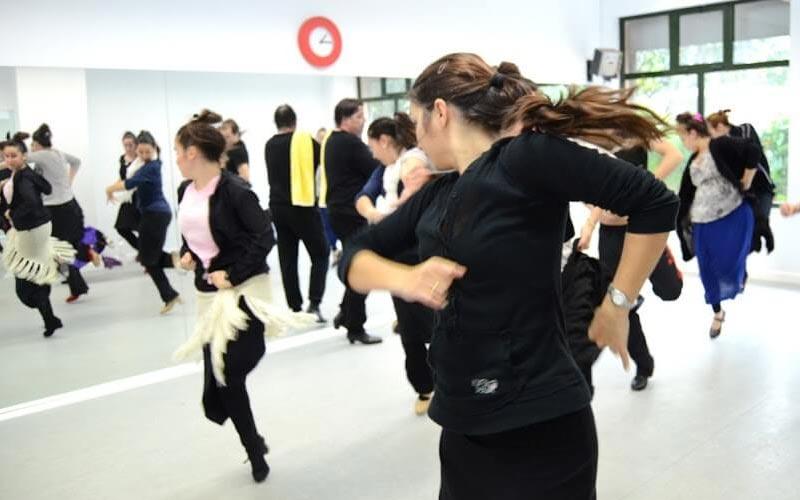 Women in a dance class