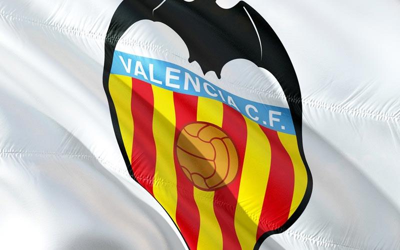 A Valencia football flag