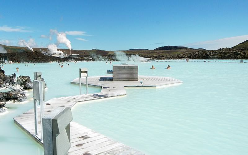 The Blue Lagoon during the day