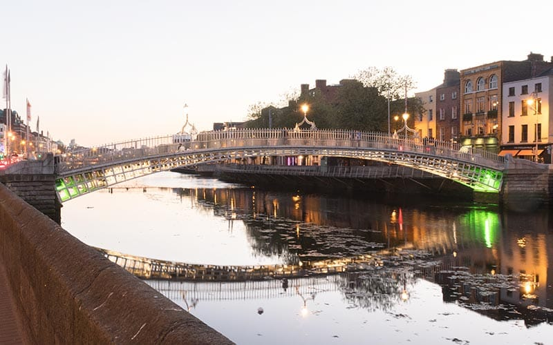 A picturesque shot of the River Liffey