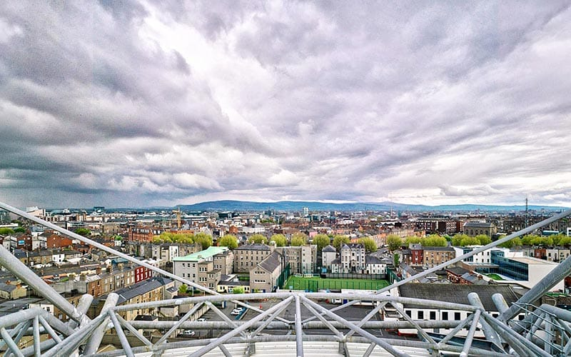 The view from the rooftop of Croke Park