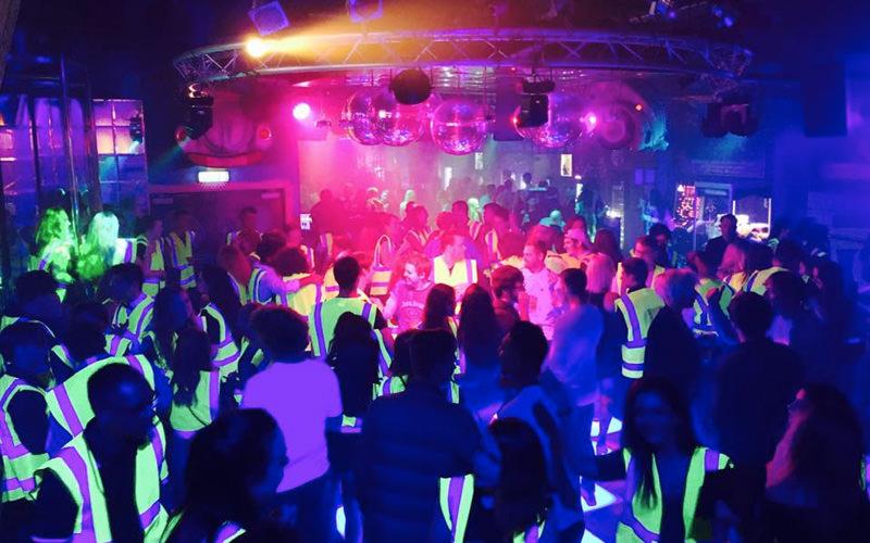 A crowd shot inside a nightclub