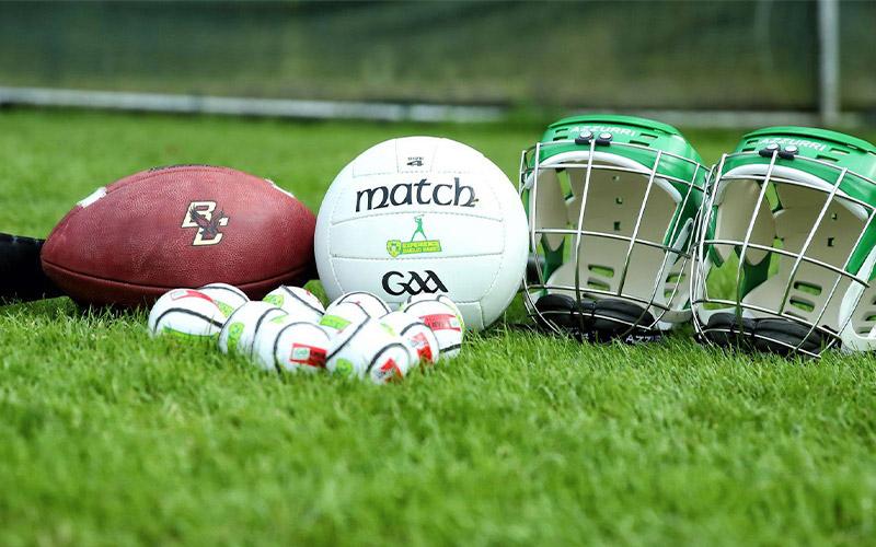 Some wooden Gaelic Games merchandise