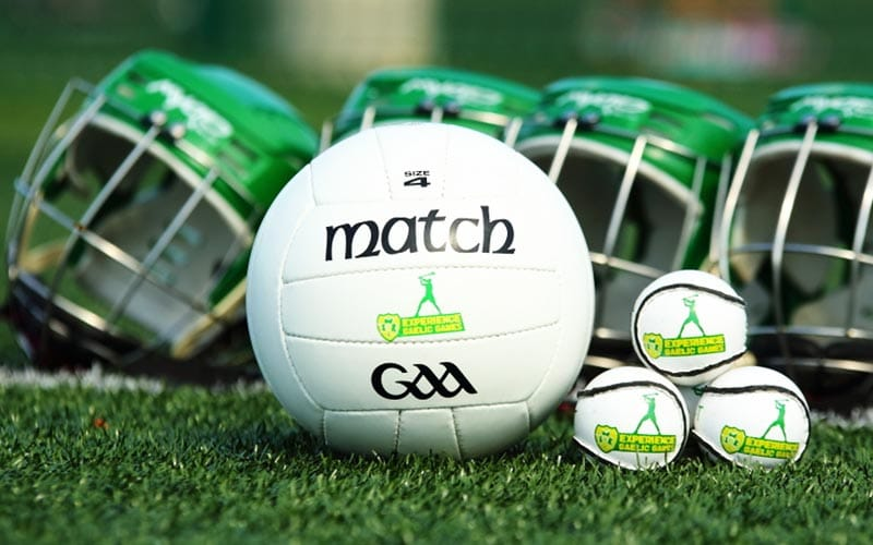 Some balls and helmets for the Gaelic Games