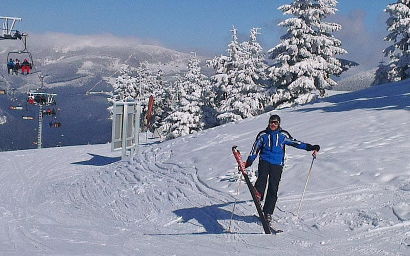 A man on the slopes