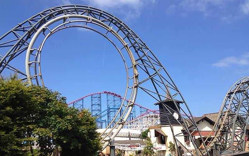 Lots of rollercoasters in Blackpool Pleasure Beach