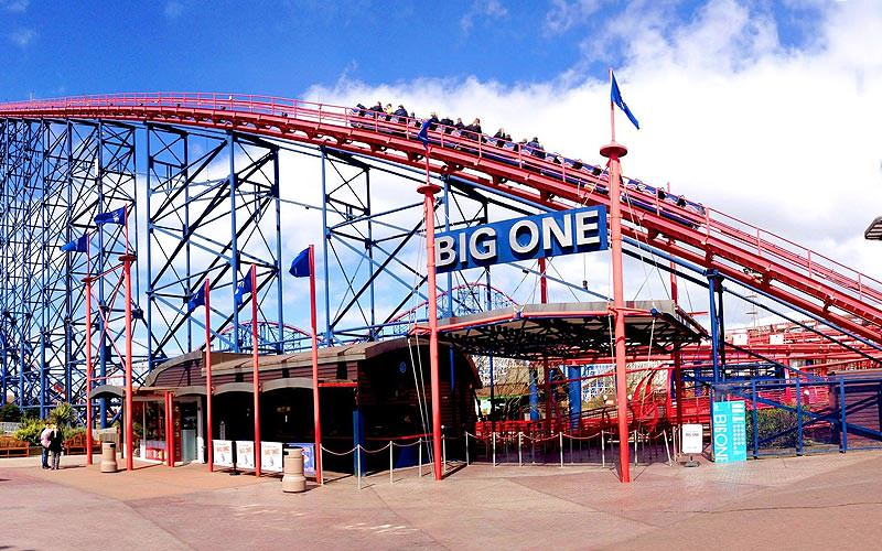 Blackpool Pleasure Beach's Big One rollercoaster