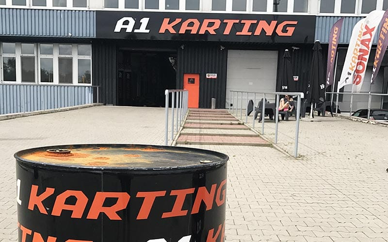 The outside of A1 Karting in Warsaw