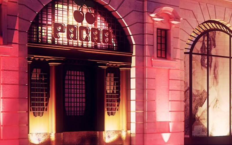 The exterior of Pacha nightclub in Poznan