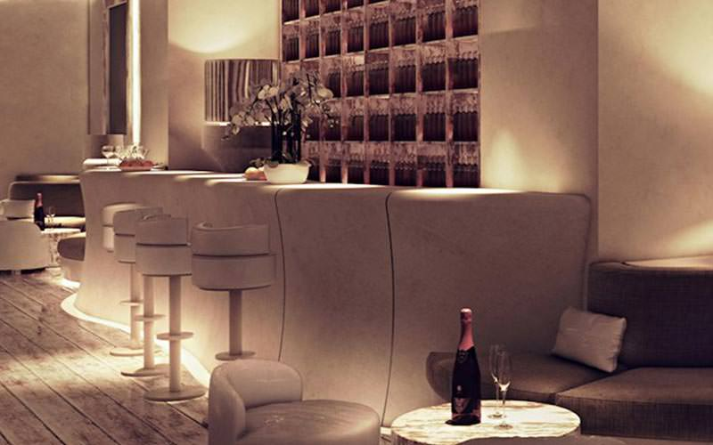 A luxurious bar area in Poznan's Pacha