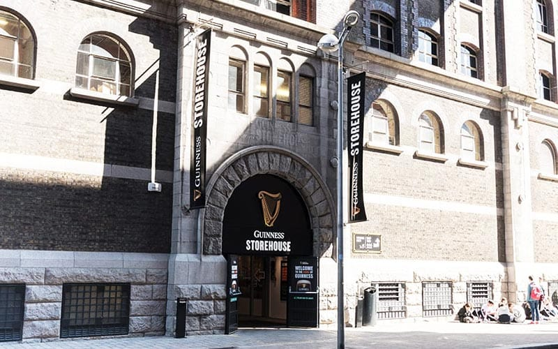 The exterior of Dublin's Guinness Storehouse