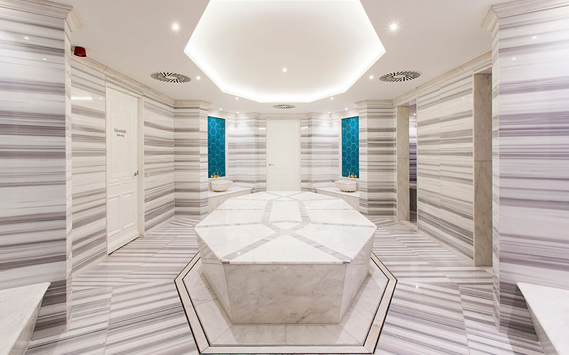 A spa with neutral colours