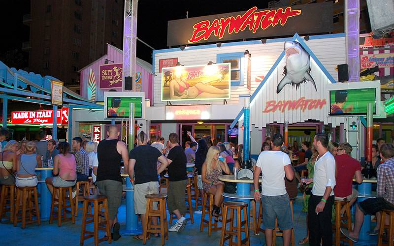 The exterior of Baywatch club in Magaluf
