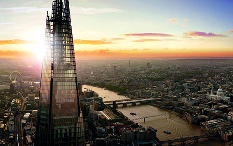 A view of London from the top of The Shard