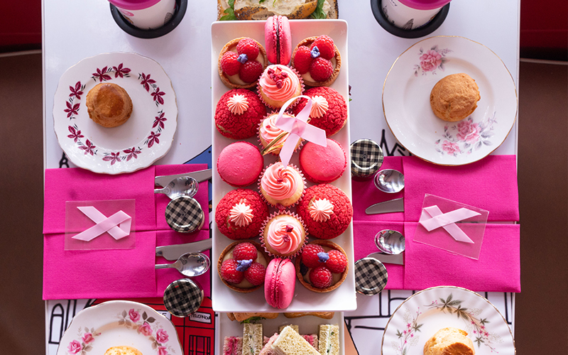 A close up of afternoon tea