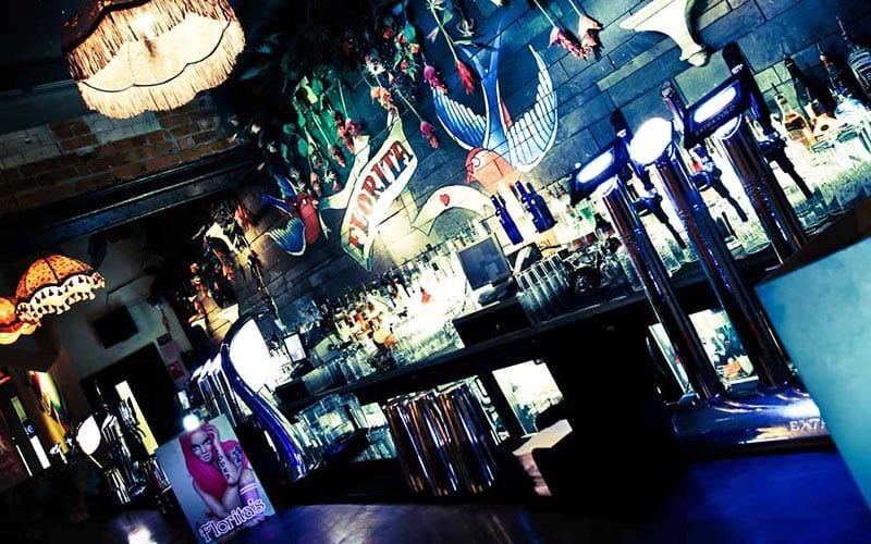 The bar at Florita's