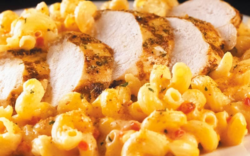 Chicken with some macaroni
