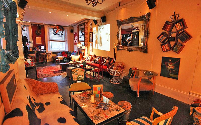 The interior of Little Yellow Door, London