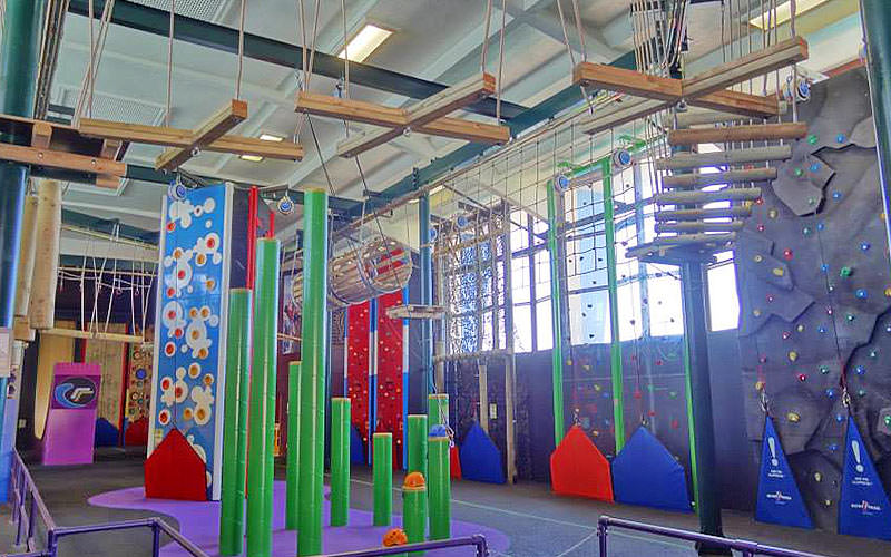 An indoor obstacle course