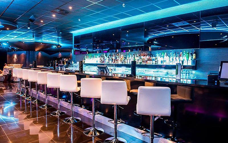 The bar area of Fashion Club