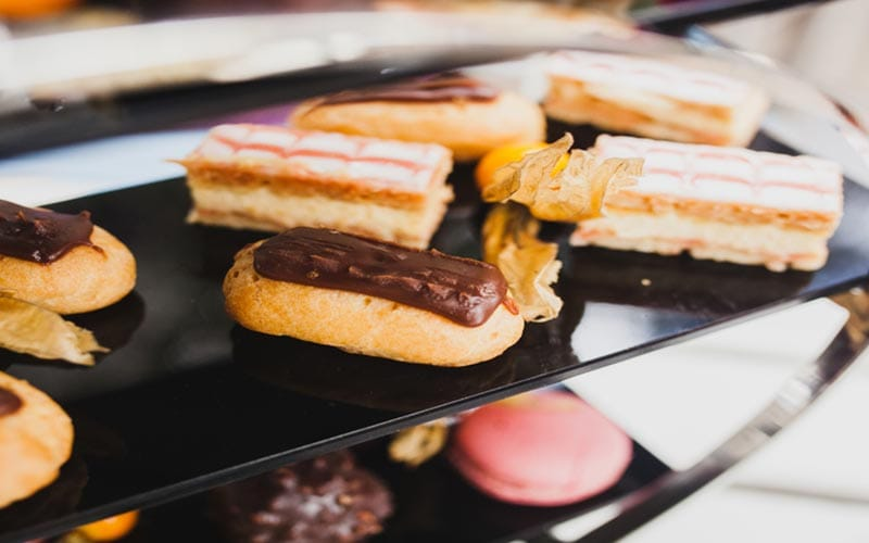 Some sweet treats included within the Mad Hatter's Afternoon tea