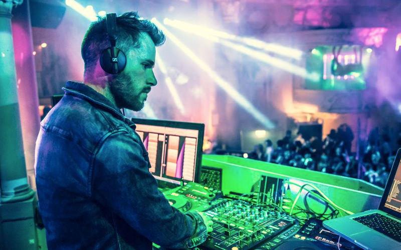 A DJ in a nightclub