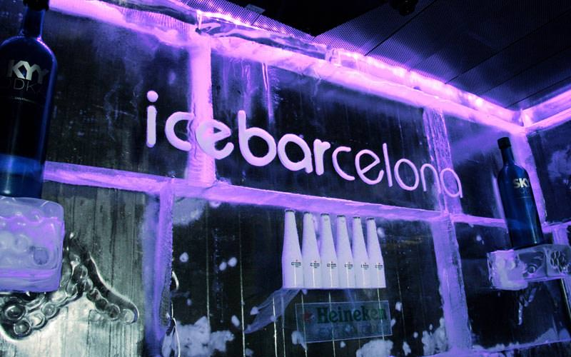 Image of the ice bar sign