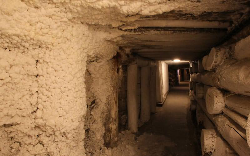 Image of one of the passage ways inside the mine