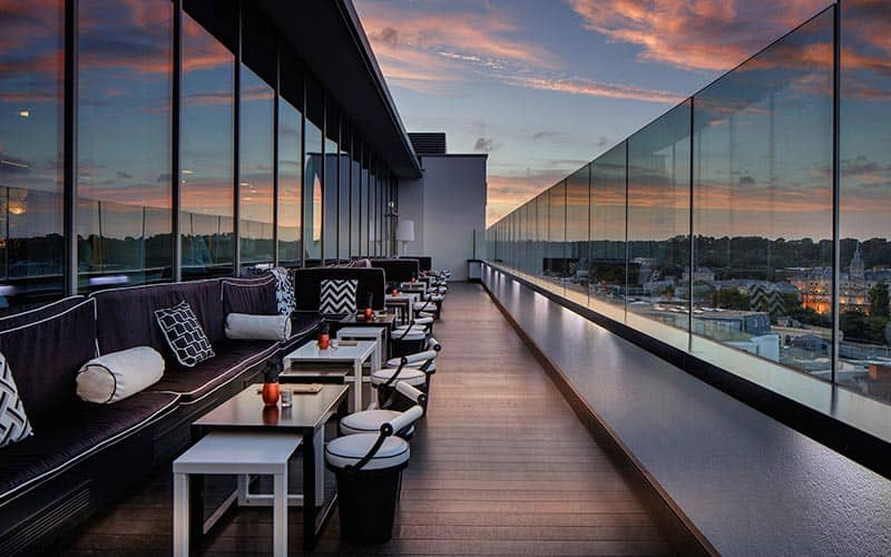 Level8 Sky Bar with panoramic views over the city of Bournemouth