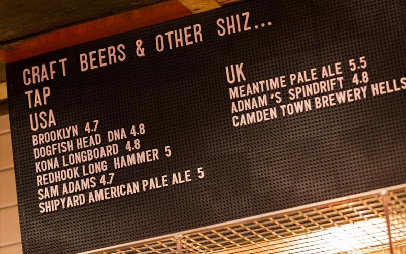 Craft Beer menu board