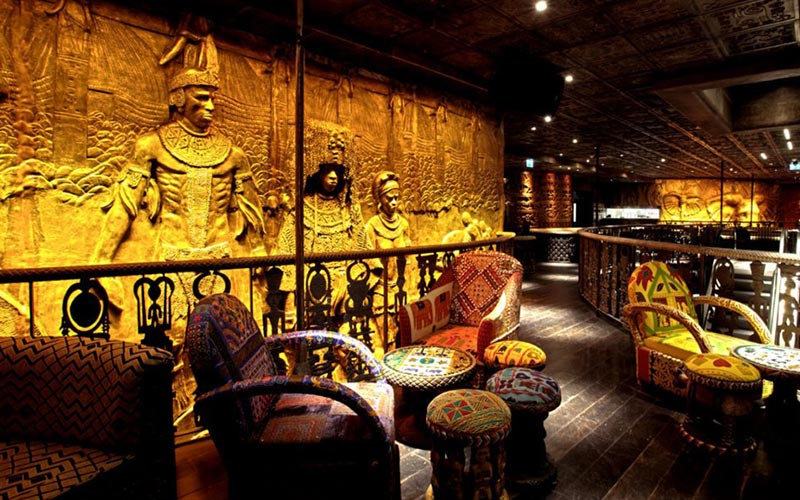 Some South African-inspired seating in Shaka Zulu