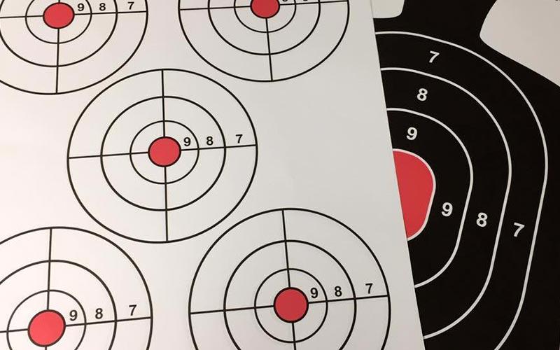 Shooting range paper targets