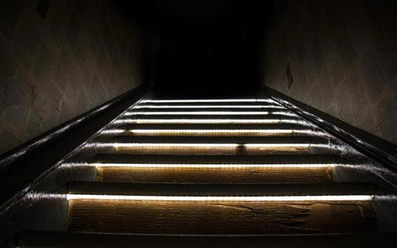 Some light up stairs
