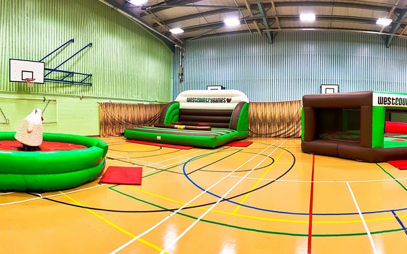 The indoor barn like gym