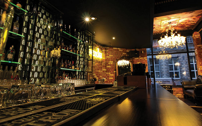 The bar area in Newcastle's Perdu
