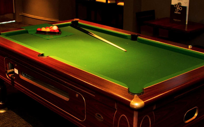 A snooker table in Pacific House