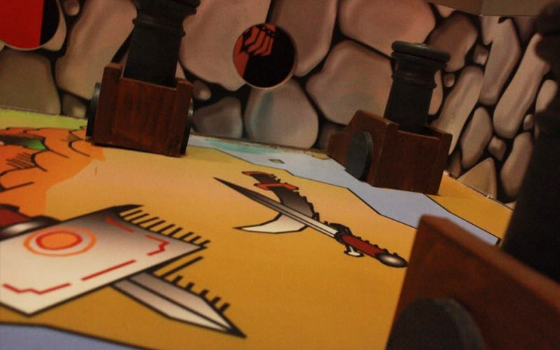A table with drawings on in GoQuest